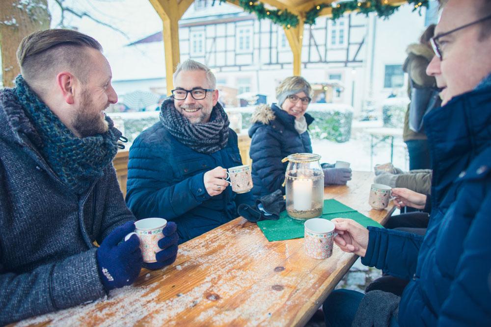 Weihnachtsmarkt auf dem Schlosshof